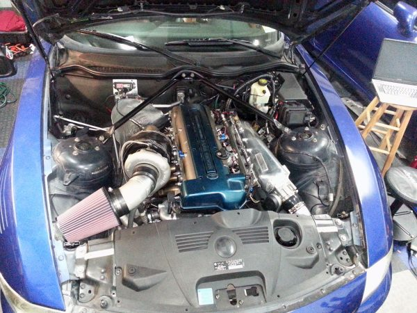 BMW Z4 with a turbo 2JZ inline-six