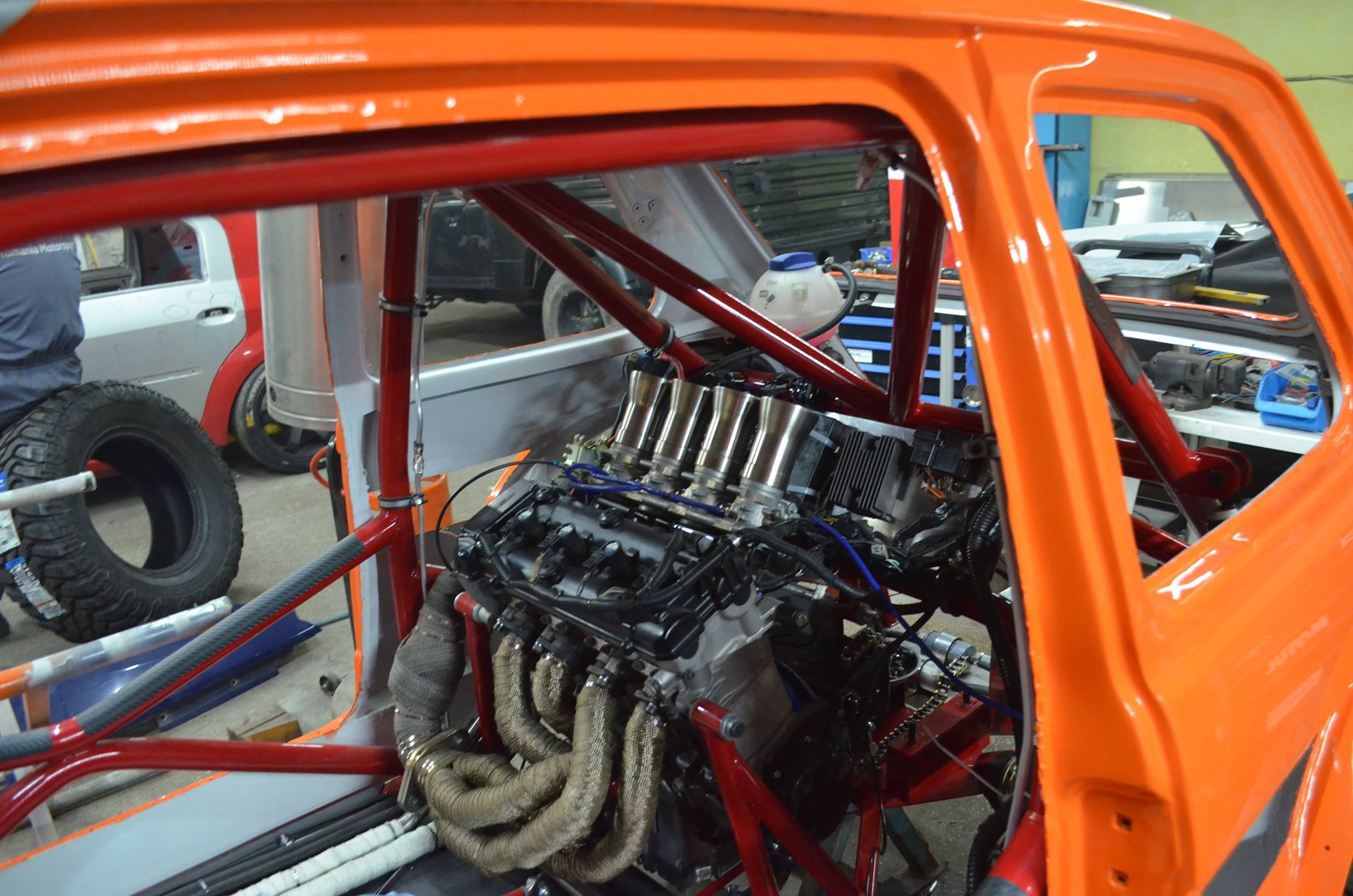 Fiat P With A Hayabusa Inline Four on Fiat 126 Engine