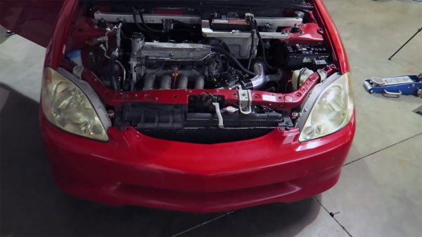 Honda Insight with a L-series inline-four