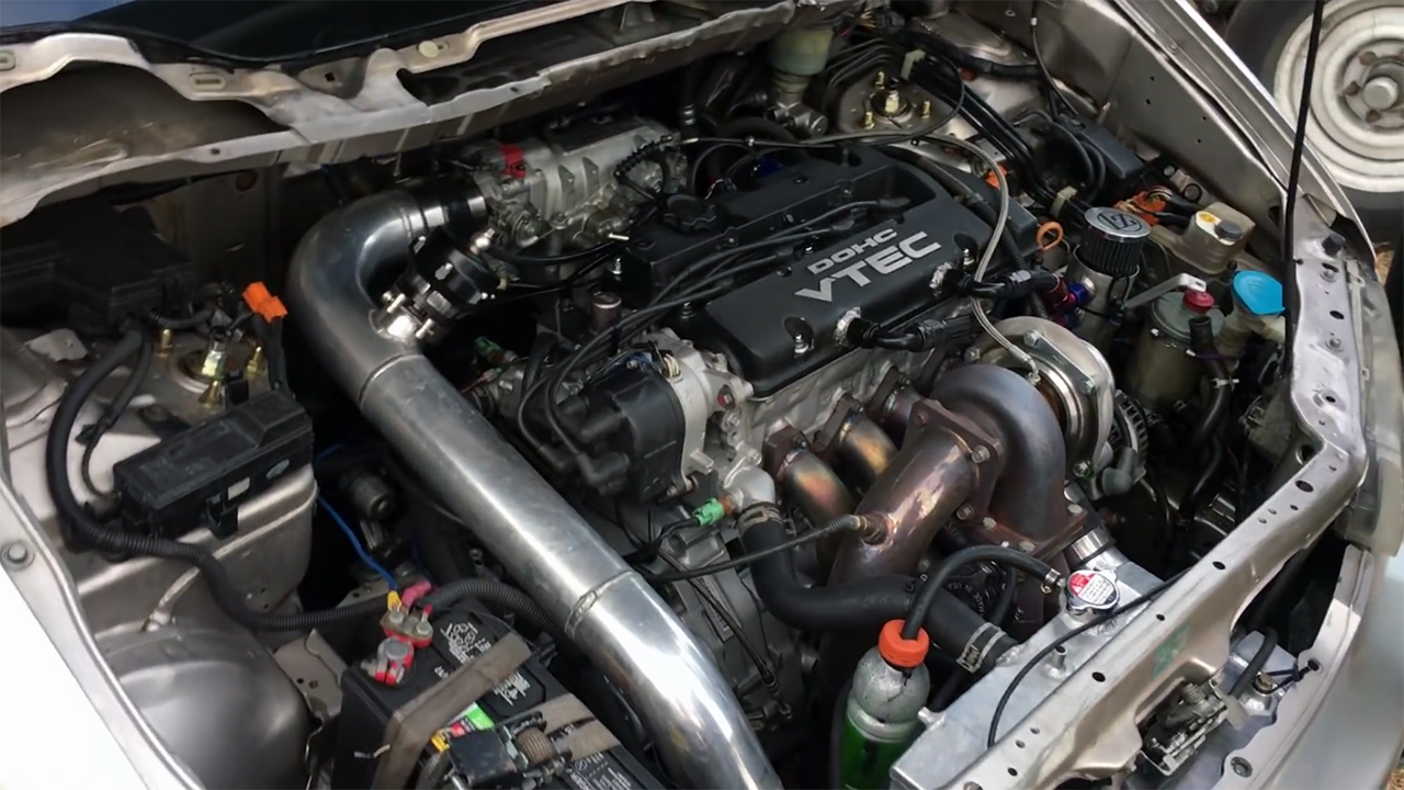 Honda Minivan with a 700+ hp Turbo H22 Inline-Four – Engine