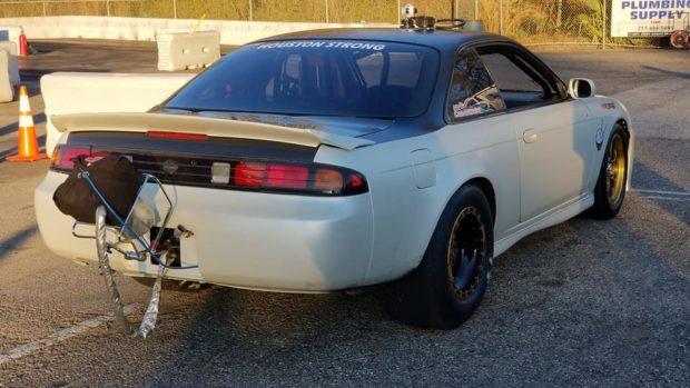 Nissan 240X with a turbo billet 2JZ inline-six