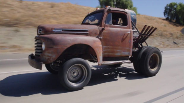 Stubby Bob 1950 Ford F-6 truck with a supercharged 454 BBC V8