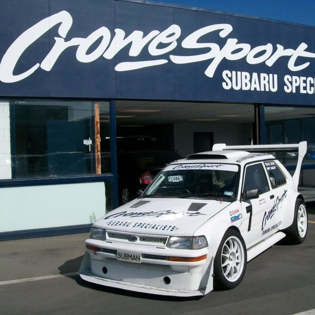 Subaru Justy with a Mid-Engine Turbo EJ25 flat-four