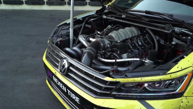 Tanner Foust's VW Passat with a LS7 V8