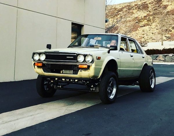 1981 Honda Accord gasser with an electric motor