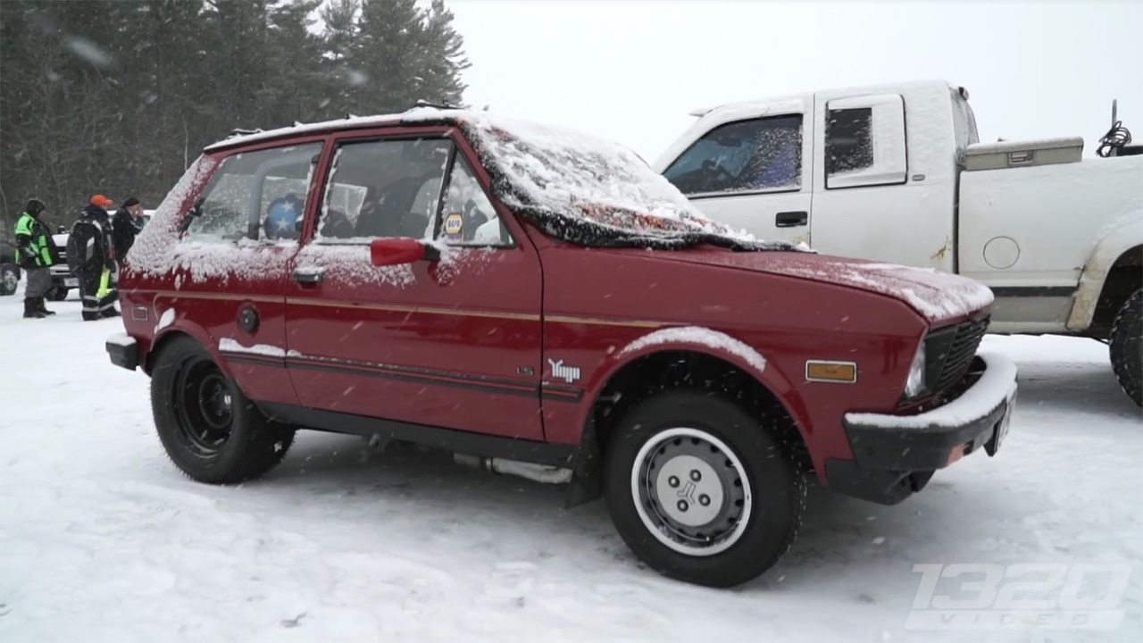 1988 Yugo GV with a LSx V8