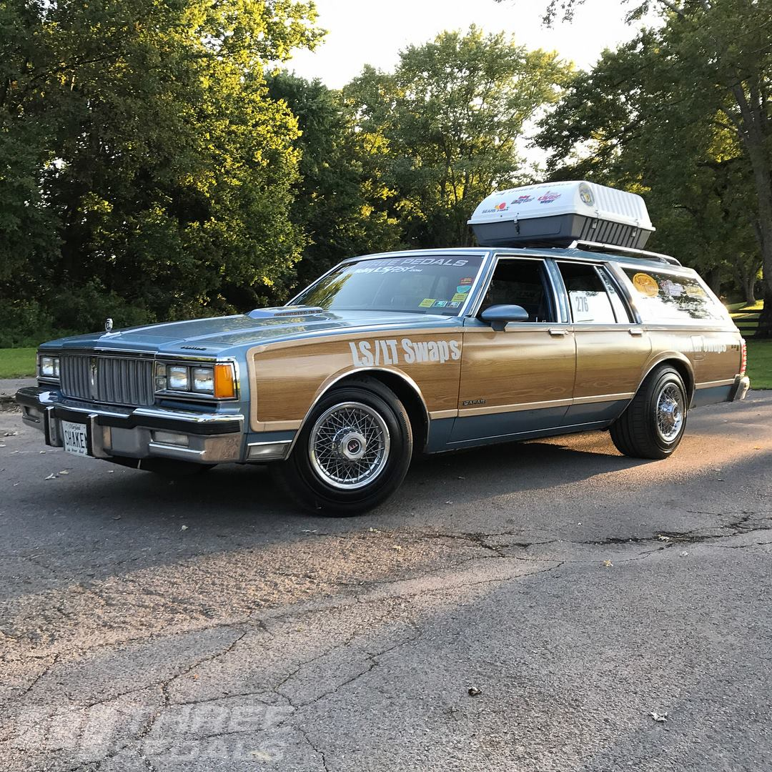This 1989 Pontiac Safari wagon was built by Three Pedals in Sterling,  Virginia to test their manual swap kit for 1977-1990 GM B-bodies.