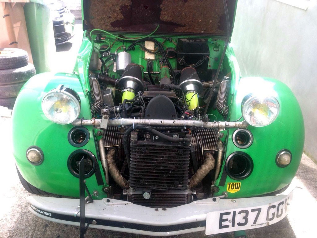 Citroen 2cv6 With A Bmw Flat Twin Engine Swap Depot Conversion Kit Alex Installed The Using Sparrow Automotive Runs Dobreck Performance Tfi Fuel Controller Paired Larger Injectors