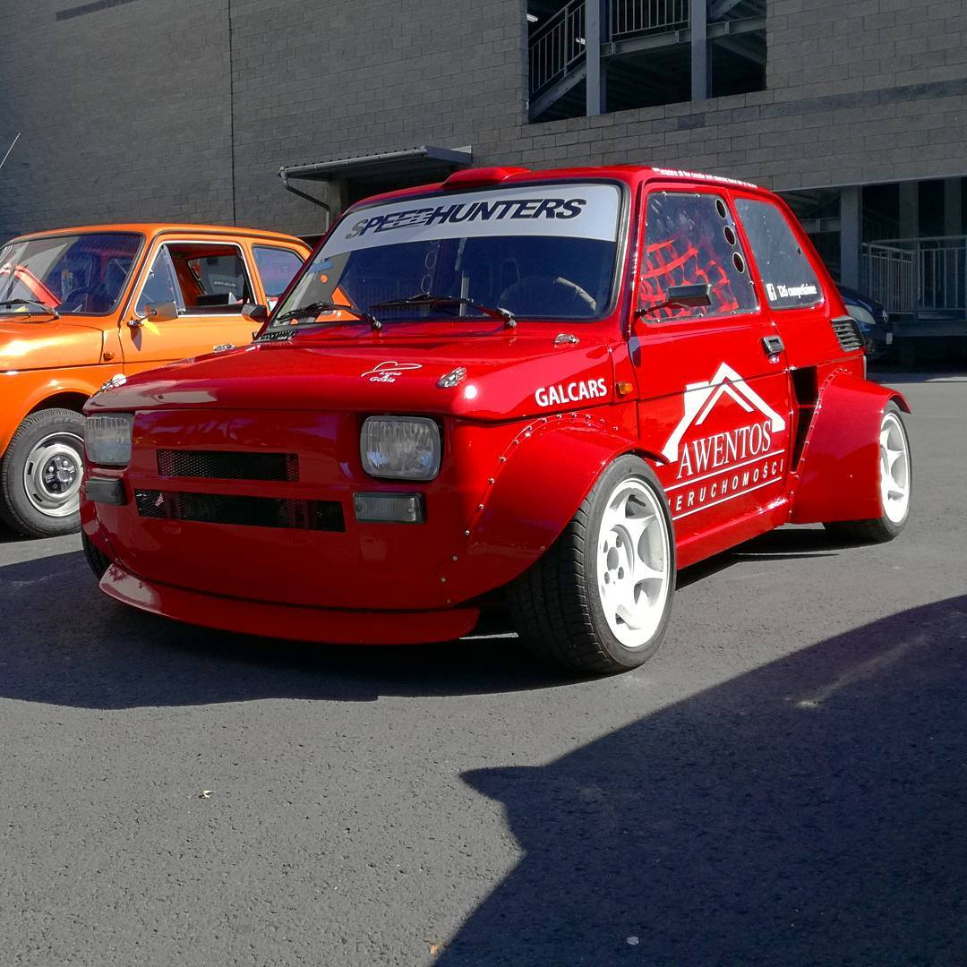 Fiat 126p with a Croma Turbo Inline-Four