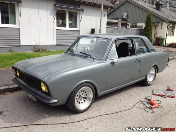 Ford Cortina with a Chevy V8