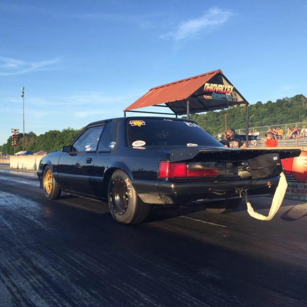 Fox Mustang with a turbo 4G63 inline-four