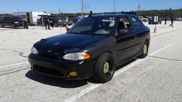 Hyundai Accent with a Turbo 2.0 L Beta Inline-Four