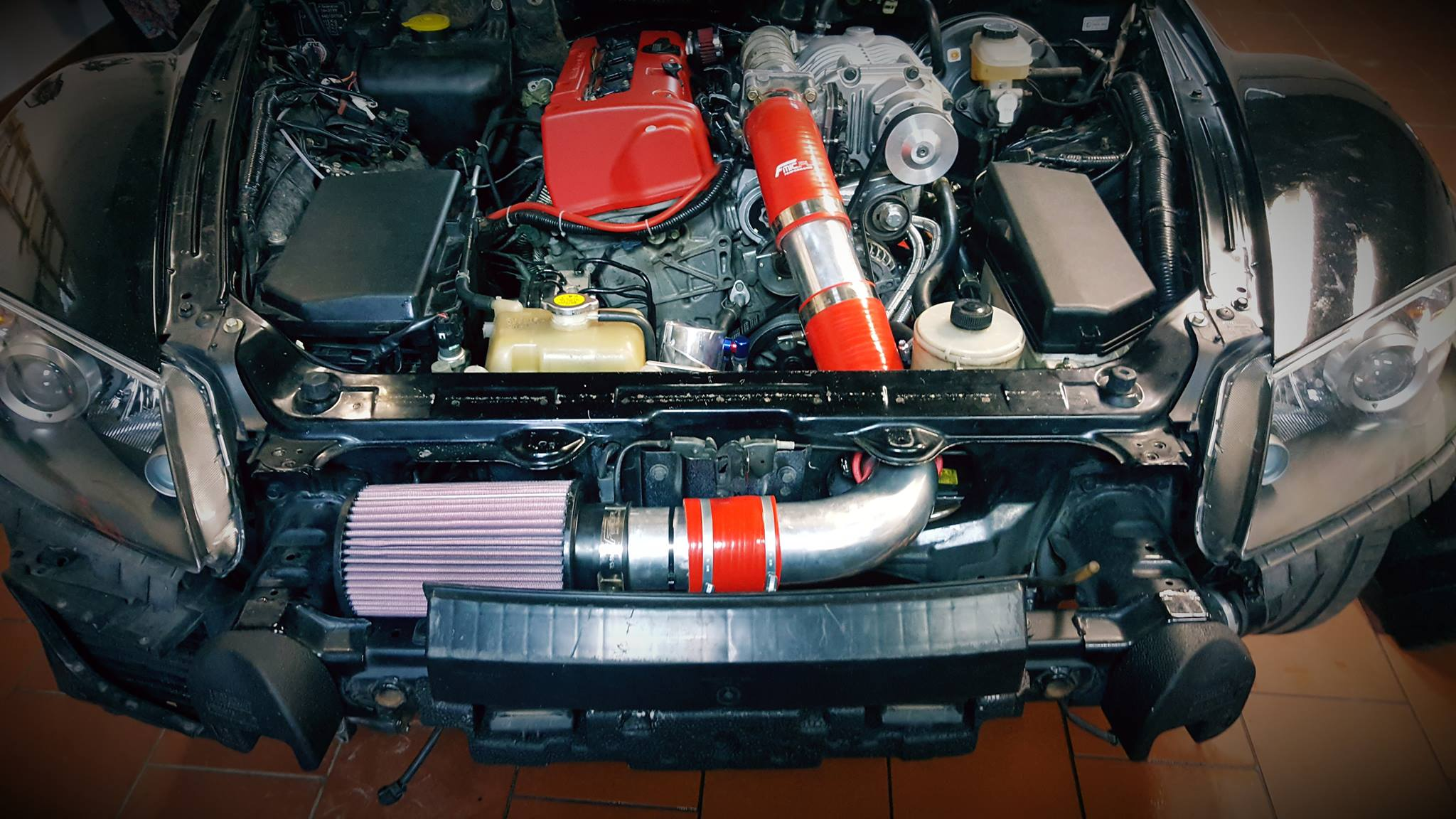 Mazda Rx With A Supercharged K Inline Four on Honda Civic Engine Swap