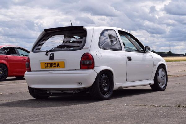 Opel Corsa with two C20LET inline-four engines