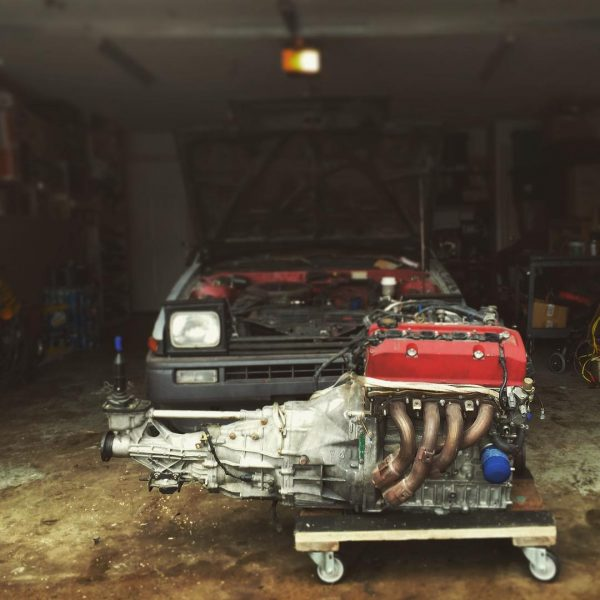 Toyota AE86 with a F20C inline-four