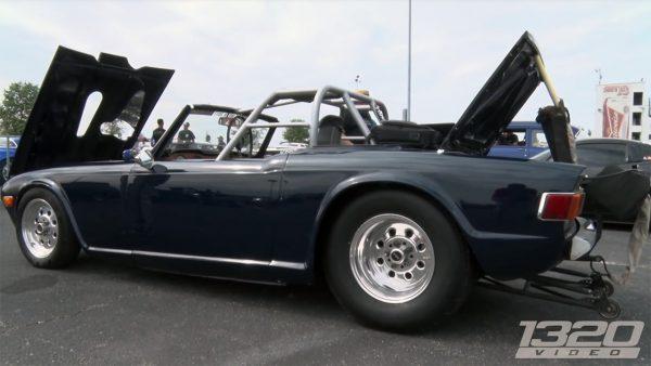 Triumph TR6 with a Turbo Pontiac V8