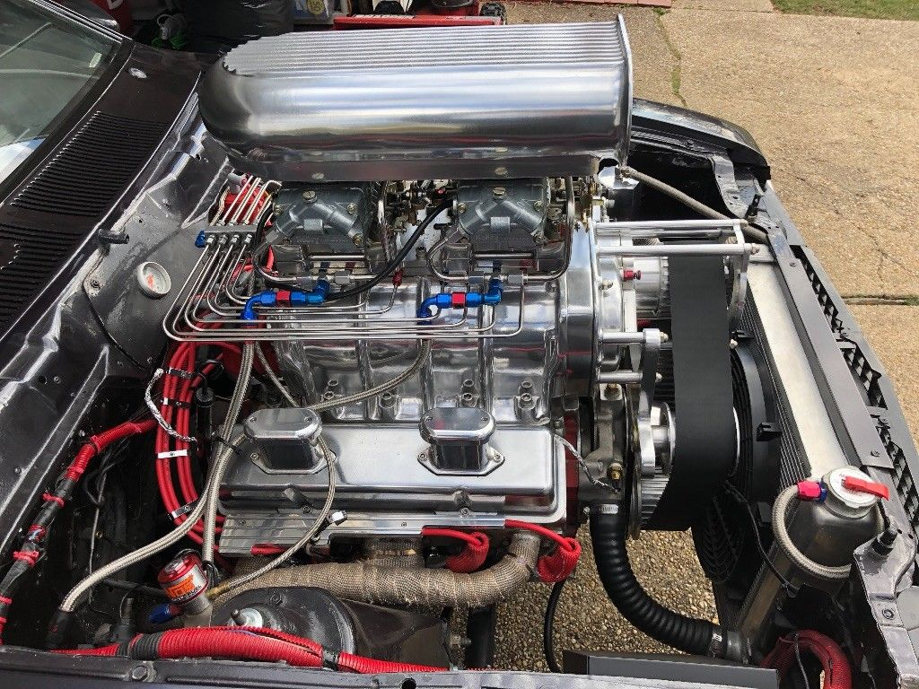For Sale : 1982 AMC Spirit with a Supercharged Chevy V8 – Engine