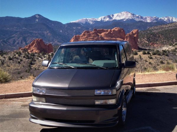 Chevy Astro Van with a 5.7 L SBC V8 and AWD drivetrain