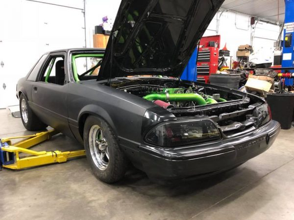 Foxbody Mustang with a Dodge Neon Turbo Inline-Four – Engine Swap Depot