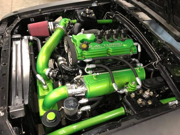 Foxbody Mustang with a Neon SRT-4 turbo inline-four