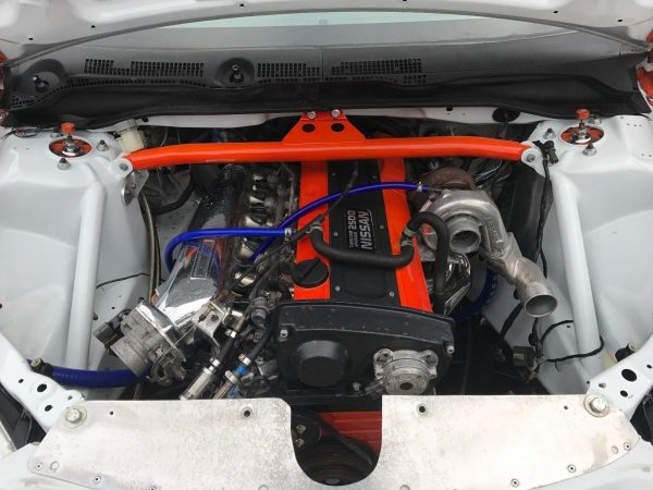 Honda Civic with a Turbo RB25 Inline-Six