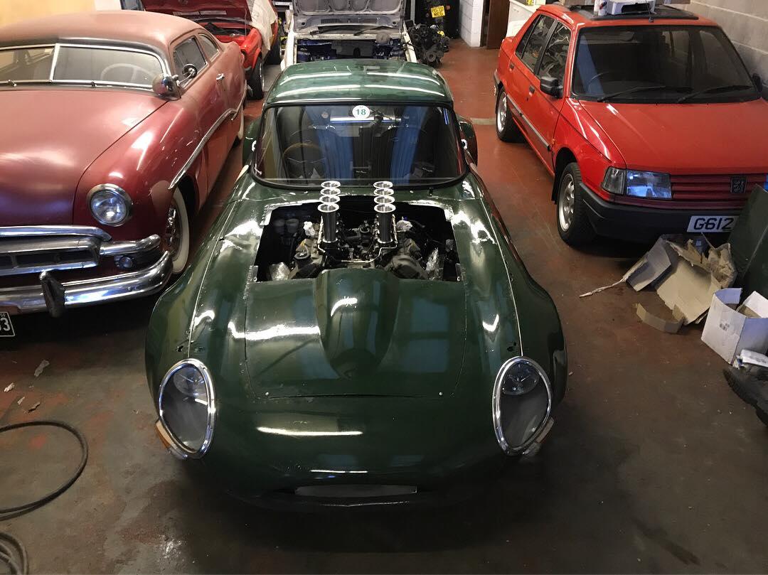 Jaguar E Type With A Bmw V8 Engine Swap Depot