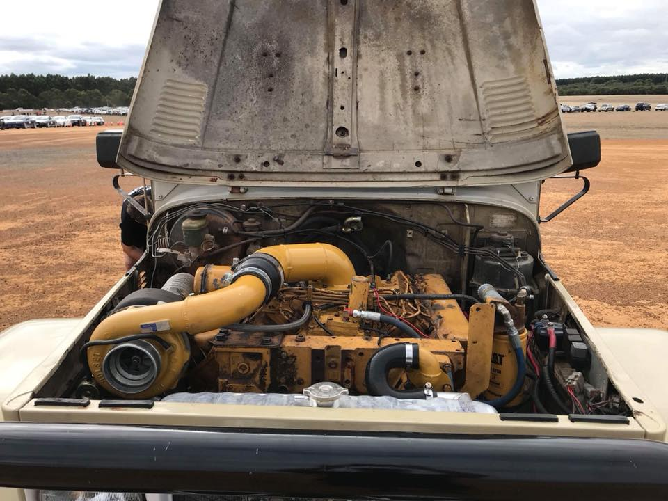 Land Cruiser with a Caterpillar 10 4 L Turbo V8 – Engine