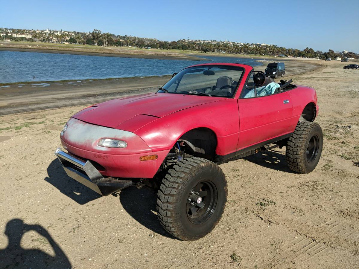 For Sale Mazda Miata On A 4wd Bronco Chassis Engine Swap Depot Ford Ii This Custom Is In Ocean Beach California With An Asking Price Of 2500 The 1990 Body Rides
