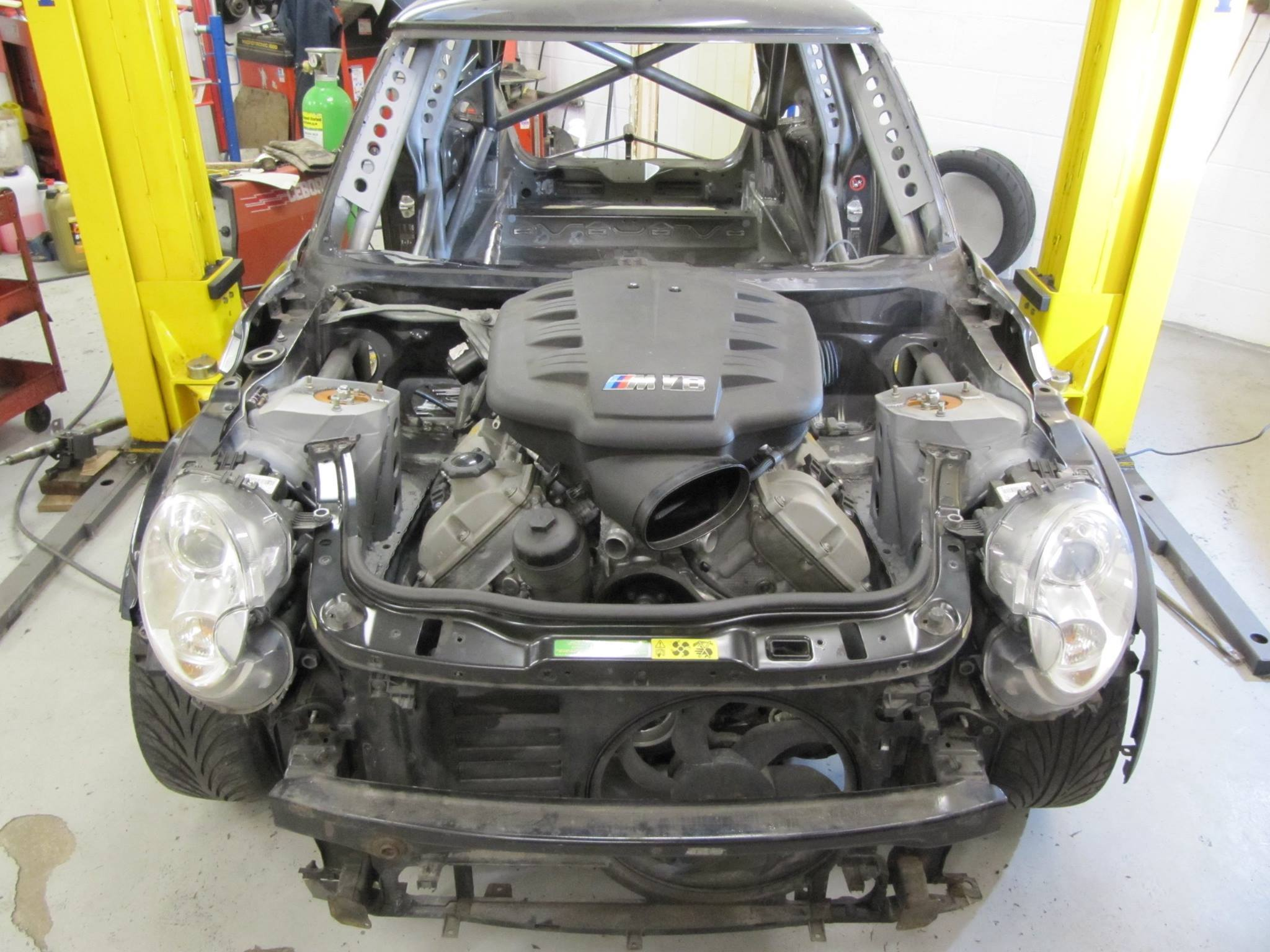 Rwd Mini With A Bmw V8 Engine Swap Depot