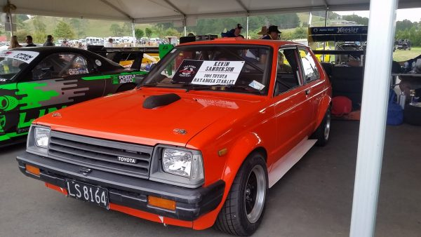 Toyota Starlet with a Hayabusa Inline-Four