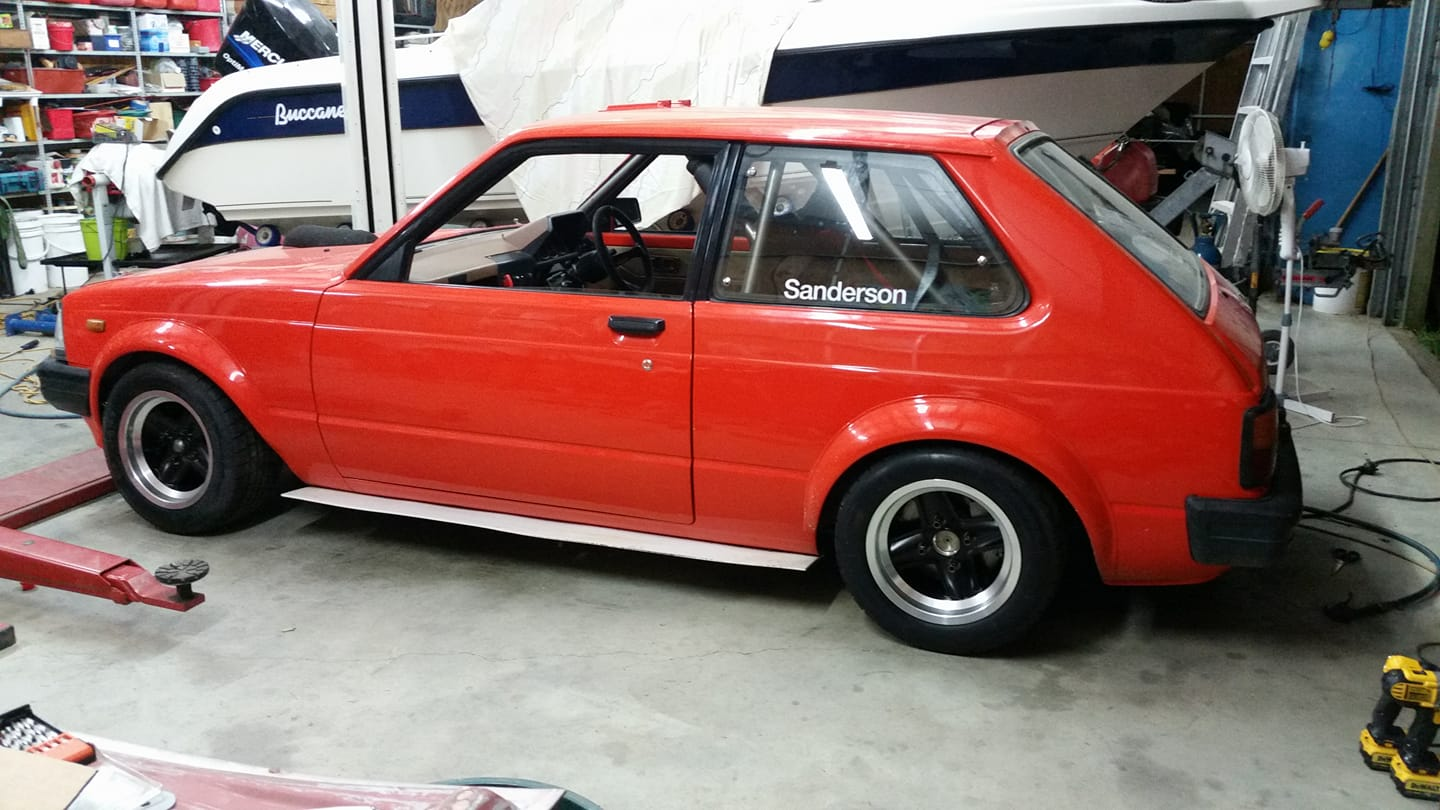 Toyota Starlet with a Hayabusa Inline-Four – Engine Swap Depot