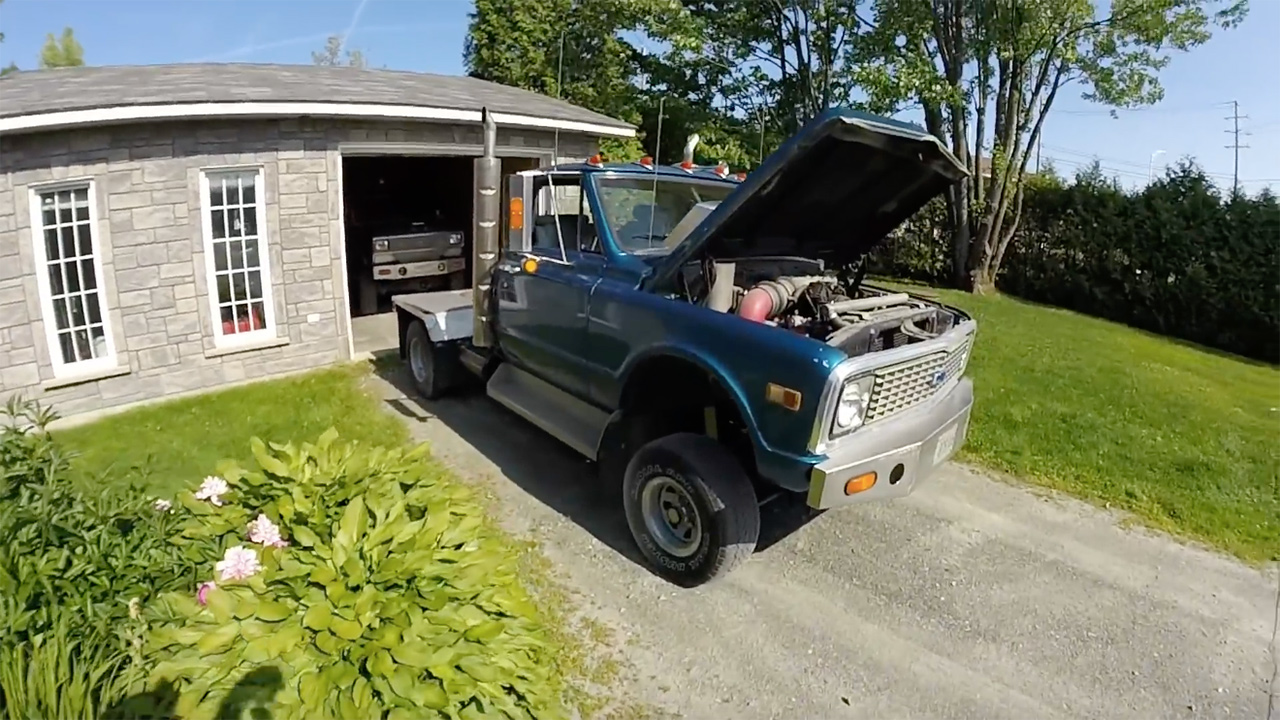 1971 Chevy Truck With A Detroit Diesel V6 Engine Swap Depot 1968 4x4 Conversion This Could Have Come From The Factory An Inline Six Or V8 However Current Owners Father Replaced 52