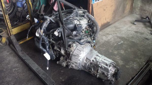 VQ35 V6 with a BMW ZF five-speed manual transmission going in a BMW E46