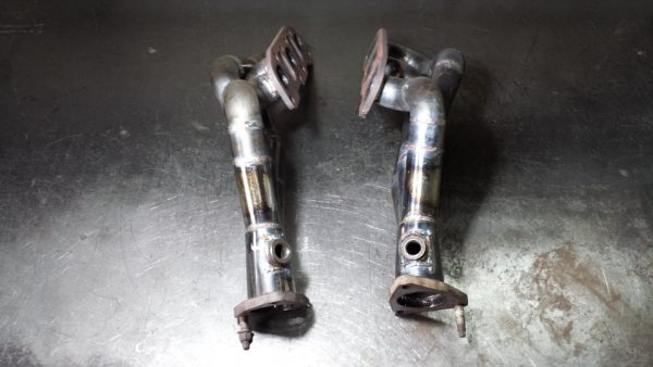 exhaust headers for a VQ35 V6 in a BMW E46