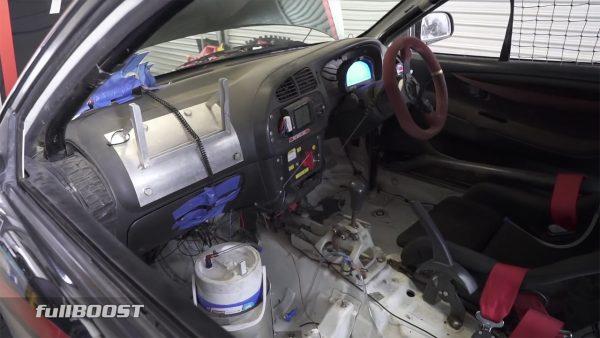 Mitsubishi Mirage with a turbo 4G63 and Evo drivetrain
