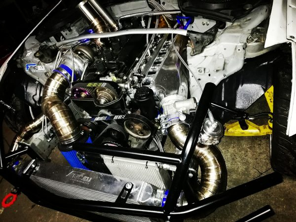 Nissan 350Z with a 2JZ-GTE Inline-Six
