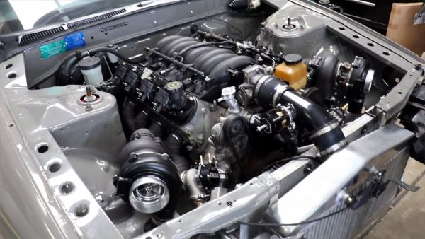 Nissan R32 with a Twin-Turbo LS1 V8