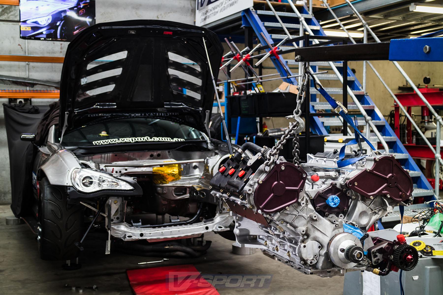 Toyota 86 with a VK56 V8 – Engine Swap Depot