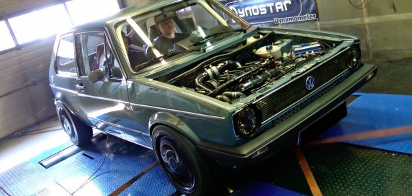 VW Golf Mk1 with a turbo 2.0 L 16v inline-four