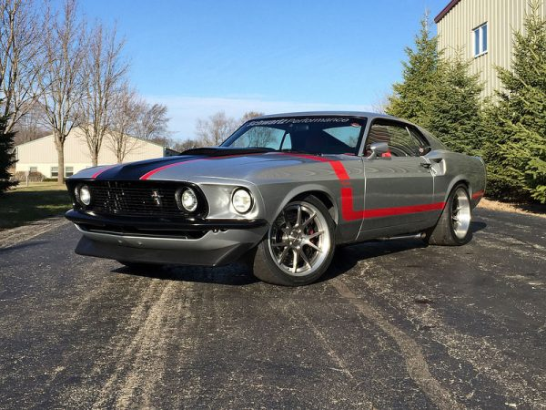 1969 Mustang with a Coyote V8