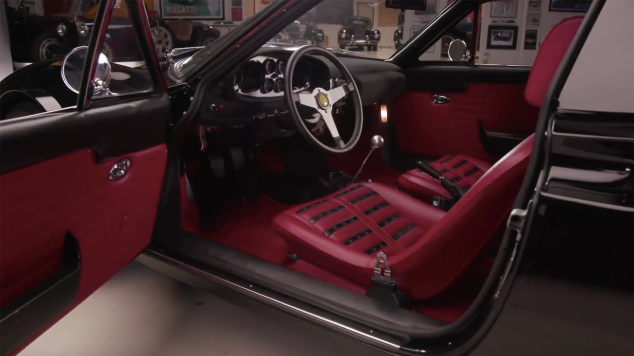 1972 Ferrari Dino 246 Gts With A V8 Engine Swap Depot 1951 Wiring Harness Source Coach Trimmers And Jay Lenos Garage