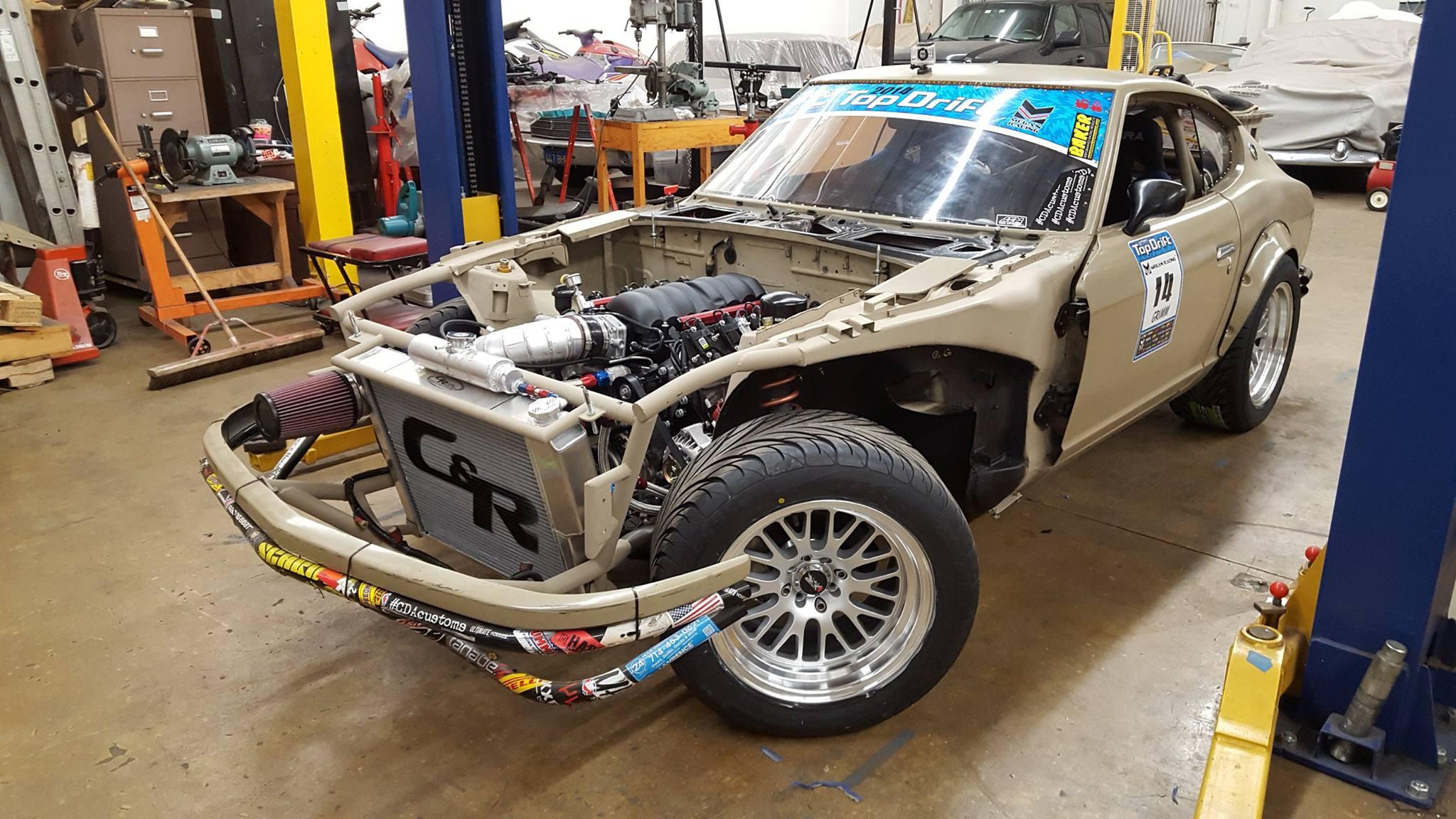 Datsun Z With A Ls V on 240z Rear End Swap
