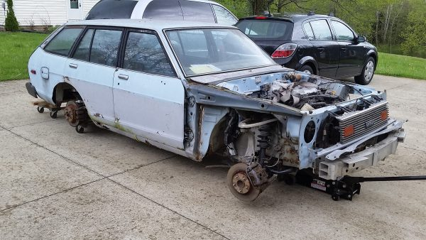 1980 Datsun 210 with Infiniti G35 powertrain and suspension
