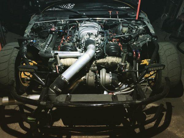 Mazda MX-5 with a turbo 1UZ V8