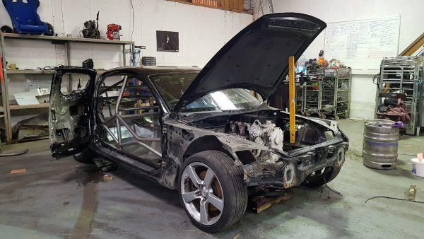 Mazda RX-8 with a Cummins 6BT diesel inline-six