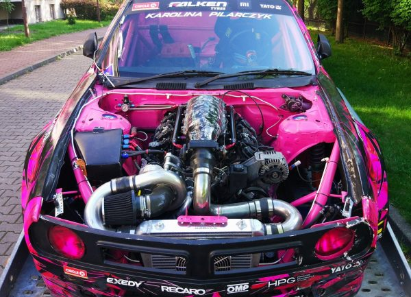 Nissan 200SX with a supercharged LSX376 V8