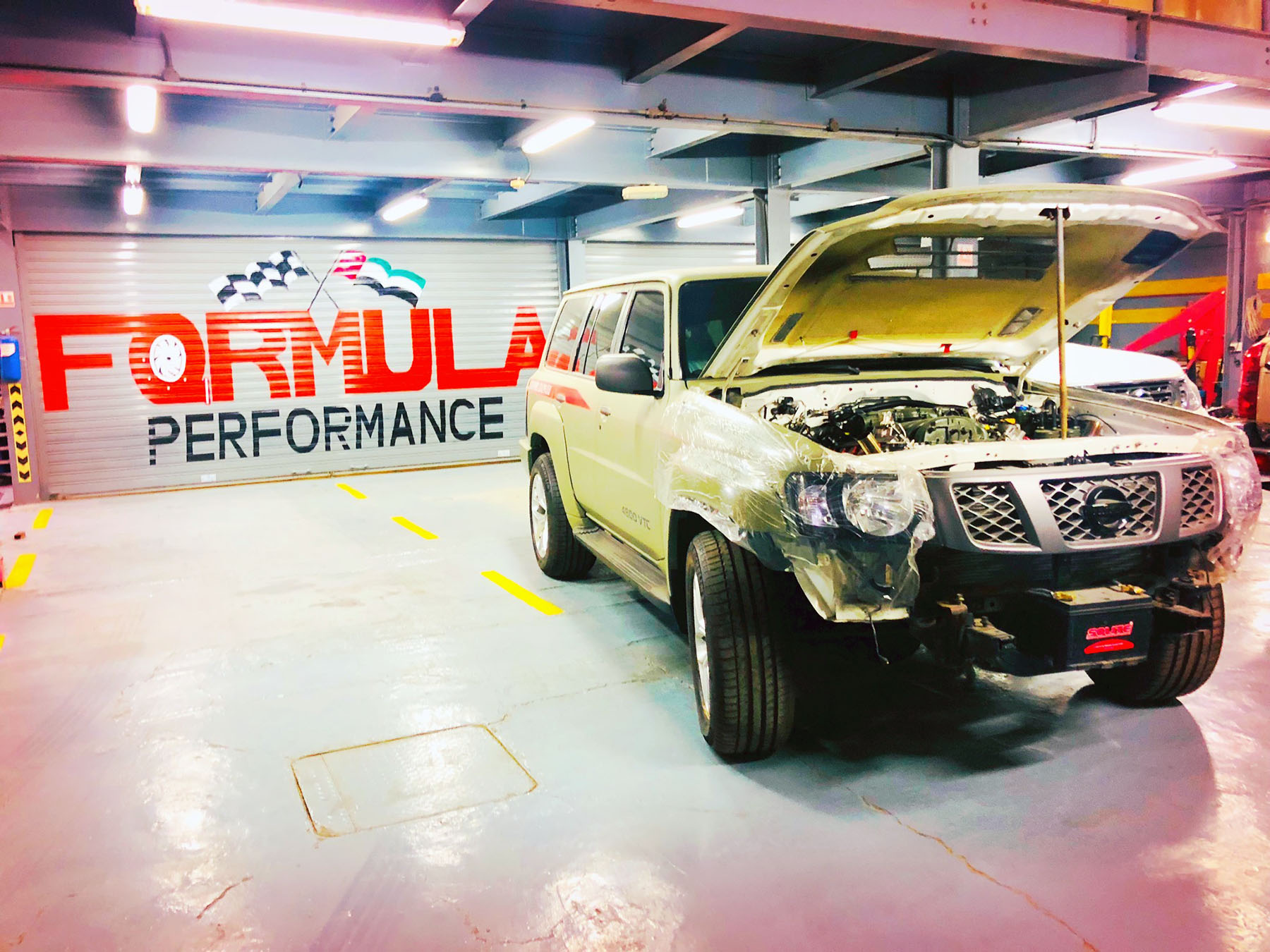 Nissan Patrol With An Audi V10 Engine Swap Depot Wiring Harness Bader Ahli From Formula Performance Garage In Dubai Is Building Saeed Alfalasi Incredible Approached The Idea Of A