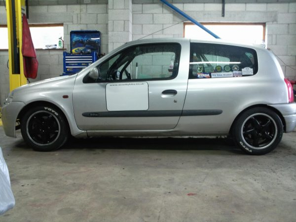 Renault Clio with a Subaru turbo flat-four and AWD drivetrain