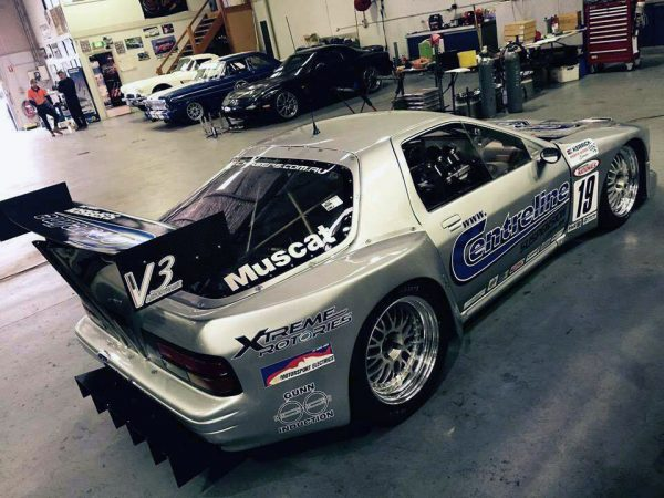 Silver Bullet Mazda RX-7 with a 20B Three-Rotor