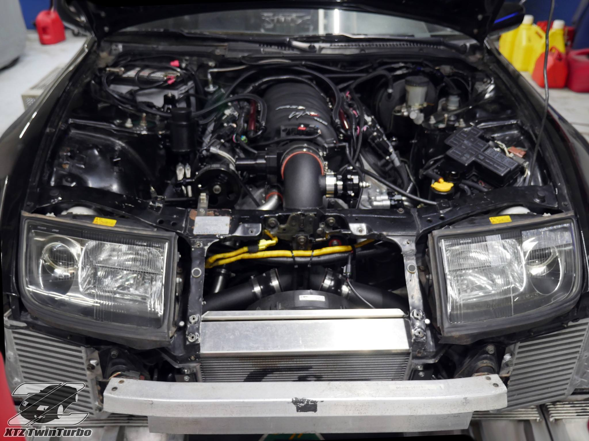 After the 3.0 L VG30DETT V6 went bad, the owner decided to go in a different direction. They built and installed a 6.2 L LS3 V8 using a LOJ Innovations swap ...